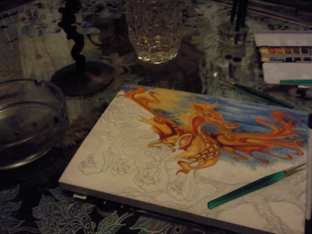 latest watercolour. .in progression...